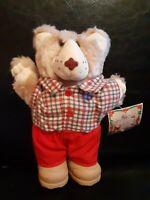 Vintage 1986 Boone Furskins Wendys Teddy Bear Plush Kids Meal Toy~ MWT