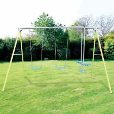 Airwave Stratus Garden Double Swing and Glider Kids Outdoor Play Set