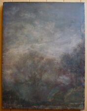 ERIC HOLZMAN, NY MODERN LISTED NEW YORK EXPRESSIONIST OIL, ABSTRACTION LANDSCAPE