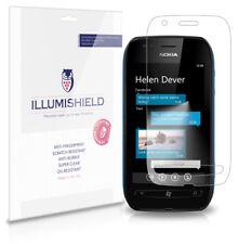 iLLumiShield Phone Screen Protector w Anti-Bubble/Print 3x for Nokia Lumia 710