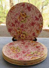 Set of FIVE Royal Winton Dorset Pink Floral Chintz Bread Plates