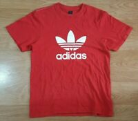 Adidas T Shirt Top Short Sleeves Red Size M