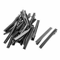 Hair Clips Hairclip Hairpins Claw Barrettes Black 7.5cm Length 20pcs