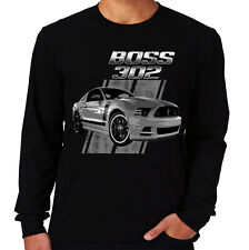 Velocitee Mens Long Sleeve T-Shirt Licensed Ford Mustang Boss 302 Design A19236