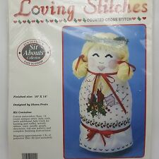 Mary Christmas Counted Cross Stitch Figure Sit Abouts Loving Stitches 1990 USA
