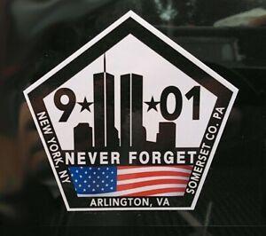 """9/11 V2 NEVER FORGET 9 11 Memorial Sticker Decal 3.5"""" x 3.5"""" World Trade Center"""