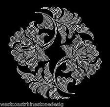 Curtain and Cushion Flower Rhinestone Iron on Transfer      4GPE
