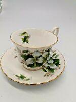 "Vintage Royal Albert Bone China Cup & Saucer ""Trillium"""