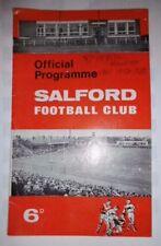 Salford v Barrow 19th January 1968 League Match @ The Willows, Salford