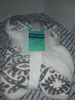 "Wayland Square Plush & Sherpa Throw, Plush & Luxurious Comfort  50"" X 60"""