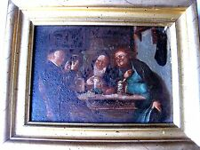 "OLD PAINTING ""GENRE SCENE"": OIL on WOODEN PANEL,GERMANY,mid.19c"