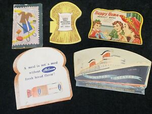 5 LOT Vintage Sewing Needle Books 1940s Era Advertising Quilting & More Hand Sew