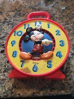 Vintage Disney Plastic Mickey Mouse Clock