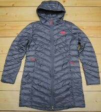 THE NORTH FACE TREVAIL PARKA GREY - 800 DOWN insulated trench WOMEN'S COAT - L