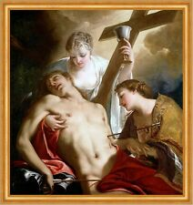 St. Sebastian Antonio Bellucci Bibel Kirche Soldat Heiliger Kreuz B A1 00628