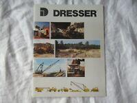1987 Dresser construction equipment product line brochure