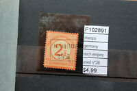 STAMPS GERMANY REICH EMPIRE N°28 USED (F102891)