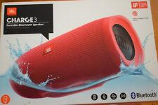 JBL CHARGE 3 WATERPROOF PORTABLE BLUETOOTH SPEAKER  RED   NEW Lists $249.00