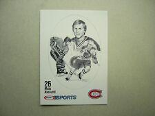 1986/87 KRAFT DRAWINGS NHL HOCKEY CARD #26 MATS NASLUND NM+ SHARP!! 86/87