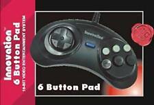 6 Button Game Controller for Sega Genesis Black Game Pad joy stick Control
