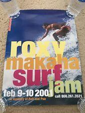 QUIKSILVER ROXY MAKAHA SURF JAM 2001 IN MEMORY OF RELL SUNN & PUA RARE POSTER