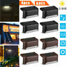 4X 8X Solar LED Deck Lights Outdoor Path Garden Pathway Stairs Step Fence Lamp