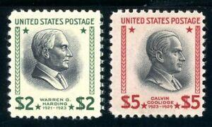 USAstamps Unused FVF US $2-5 Presidential Scott 833, 834 OG MNH