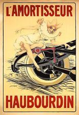 aRT  Belgian Auto Car Automobile  L'AMORTISSEUR HAUBOURDIN   Deco Poster Print