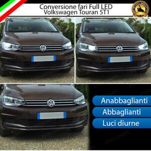 KIT FARI FULL LED VW TOURAN 5T1 ANABBAGLIANTI ABBAGLIANTI E LUCI POSIZIONE 6000K