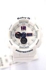 CASIO Ladies BABY-G Watch BA120TR-7B Analog Digital Dial White  Resin Band