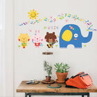 Removable Music Animal Elephant Sun Wall Sticker Mural Wall Decal Home Decor Diy