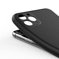 Hülle iPhone 12 11 / Pro / Max Mini - Silikon Schutz Case Handy Tasche Schwarz