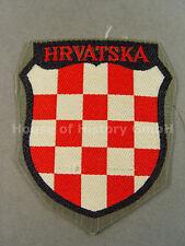 97008 Armabzeichen: HRVATSKA, Kroatien, Kroatische Freiwillige, Wappen, Bevo