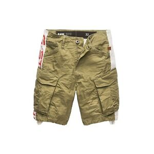G-Star Raw Rovic Moto Relaxed Cargo Shorts Sage Size 34