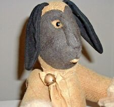 GERMAN ?? ANTIQUE SHEEP DOLL W/ OILED CLOTH FACE / PRIMITIVE / ANTIQUE EASTER