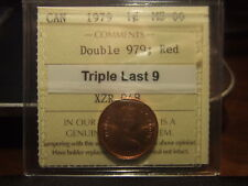 CANADA ONE 1 CENT 1979, ULTRA STRONG DOUBLE 979, TRIPLE LAST 9, ICCS MS-66 !!!!!