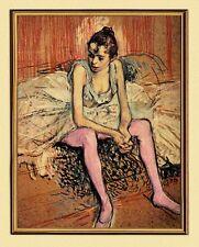 Impressionism Henri de Toulouse-Lautrec Seated Dancer Canvas Frame 50