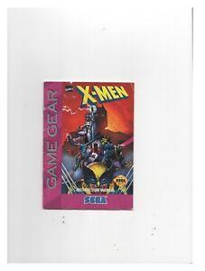 X-Men Sega Game Gear MANUAL ONLY Authentic