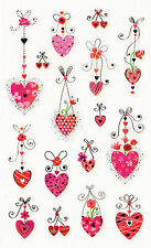 Mrs. Grossman's Turnowsky Stickers - Hanging Hearts - Modern Designs - 2 Strips