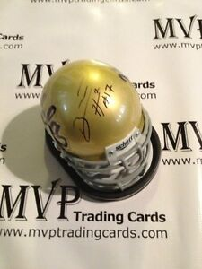 BRETT HUNDLEY Autograph UCLA Bruins Schutt Mini Helmet PSA/DNA