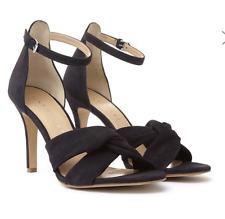 Truffle HAYLEY Black Velvet Front Knot Mid Heel Shoes UK 3 EU 36 LG05 91