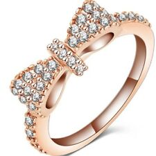 Bow Tie Ring Size 7 Rose Gold Color