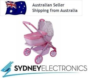 Baby Born Junior 3 In 1 Pram Convertible Doll Pushchair Stroller- Detachable Cot