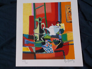 Marcel Mouly,Still Life Lithograph,Frenchman,Modern, Anstract,Contemporary