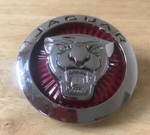 jaguar badges emblems 85mm 8.5 Cm Growler Grill Red