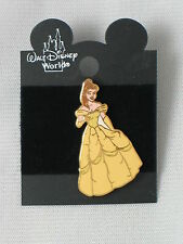 2000 DISNEY BELLE STANDING IN YELLOW GOWN PIN NEW ON CARD 1818