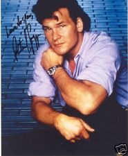 PATRICK SWAYZE SIGNED 8X10 PHOTO DIRTY DANCING GHOST #3