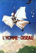 Sky diving-l' homme-oiseau-wingsuit vieux français Publicité Lumineuse A3 Art Poster Print