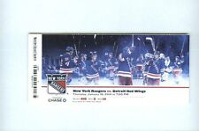 HENRIK LUNDQVIST NY RANGERS 48TH NHL SHUTOUT TICKET 1/16/2014 v DETROIT REDWINGS