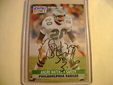 ANDRE WATERS HAND SIGNED AUTO AUTOGRAPH PROSET CARD PHILADELPHIA EAGLES DECEASED